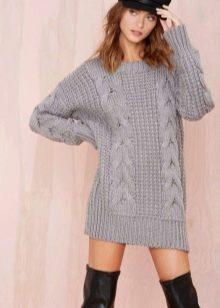 Шерстяное платье-туника
