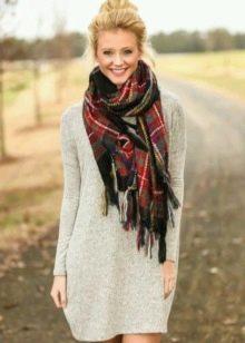 Туника с шарфом