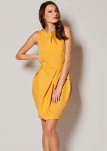 Желтое платье-тюльпан