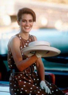 Коричневое платье в белый горошек из фильма Красотка - Джулия Робертс