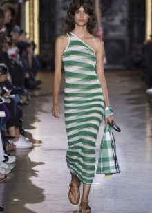 Платье миди в морском стиле
