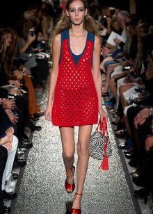 Красное платье сетка