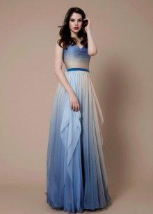 Платье в морском стиле голубое