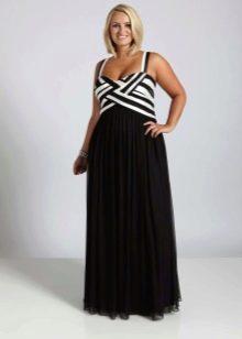 Платье в морском стиле для полных