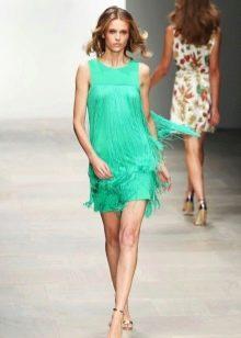 Бирюзовое платье в морском стиле