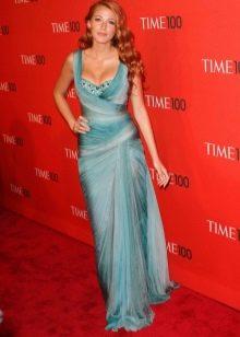 Платье бирюзового цвета морское