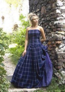 Платье в синюю шотландскую клетку
