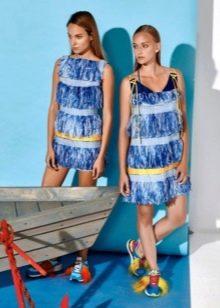 Голубые платья в стиле чикаго