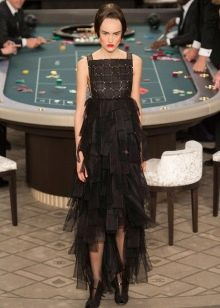 Платье с шифоном в стиле чикаго