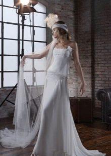 Платье в пол с заниженной талией
