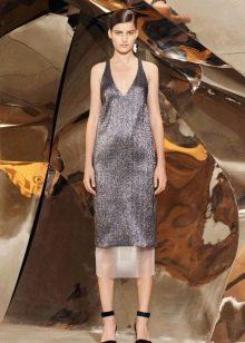 Серебристое платье в стиле чикаго