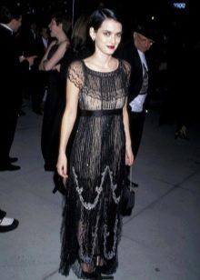 Вечернее платье в стиле чикаго кружевное