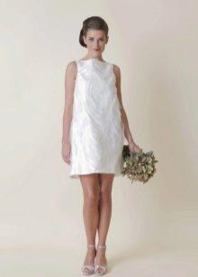 Короткое свадебное платье в стиле Одри Хепберн