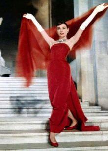 Красное платье одри Хепбер