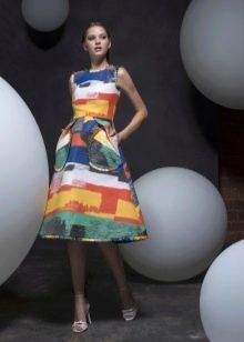 Платье в стиле стиляг цветное