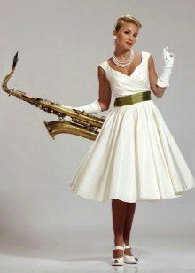 Платье с перчатками в стиле стиляг