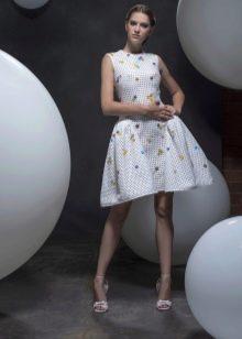 Платье в стиле стиляг белое