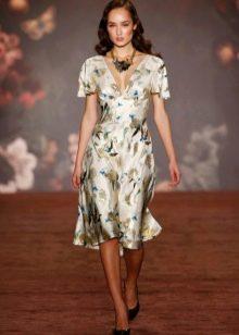 Платье футляр в стиле стиляг с коротким руккавом