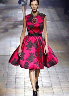Платье на выпускной в стиле стиляг
