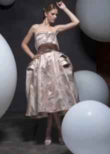 Коктейльное платье в стиле стиляг
