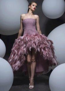 Вечернее платье в стиле стиляг с перьями