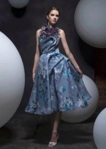 Коктейльное платье в стиле стиляг с американской проймой