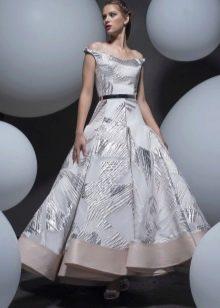 Платье А-силуэта миди