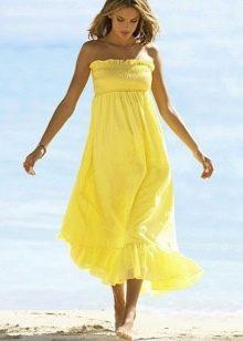 Длинное платье-юбка