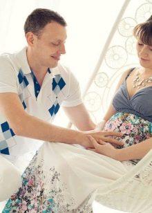 Платье без рукава для беременной