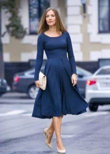 Платье длины миди для беременных