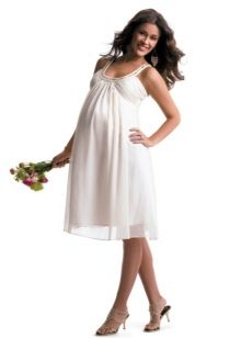 Летний белый сарафан для беременных