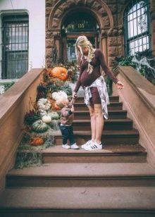 Платье для беременных на осень