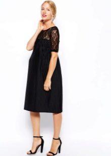Платье со складками для беременных