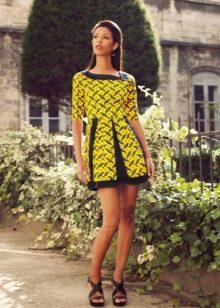 Платье с рисунком-мозаикой