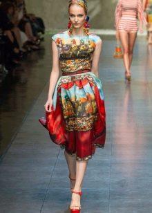 Платье с этническим рисунком