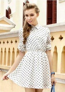 Платье с мелким рисунком для невысоких