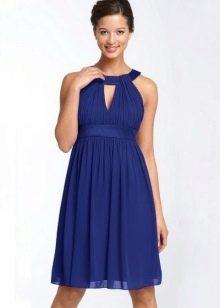 Платье с завышенной талией с американской горловиной