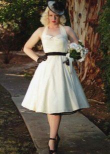 Платье в стиле 50-х и аксессуары к нему - шляпка, перчатки, ремень