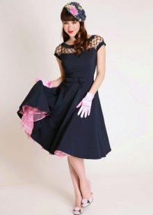 Туфли с бантиками к платью в стиле 50-х