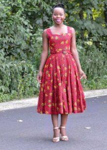 Босоножки на каблуке к платью в стиле 50-х