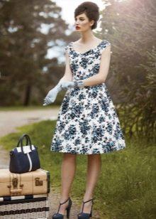 Черно-белое коктейльное платье в стиле 50-х