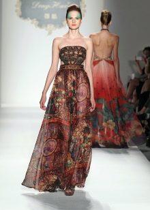 Шифоновое платье в стиле барокко