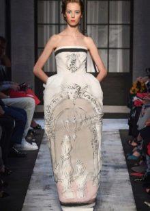 Платье в стиле барокко пышное с принтом