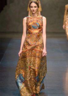 платье в стиле барокко золотистое