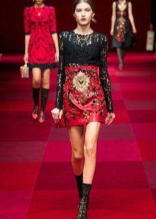 Короткое барочное платье