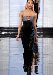 Платье с бисером в стиле барокко