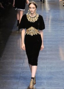 Платье в стиле барокко деловое