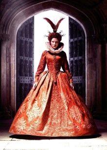 Красное платье в стиле барокко