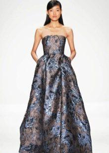 Барочное платье цветное