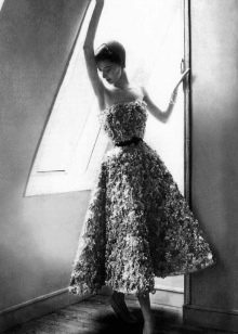 Платье-бюстье от Кристиан Диор в стиле нью лук
